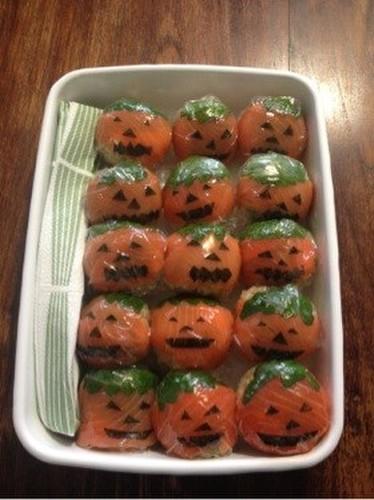 Sushi Balls Halloween For a Potluck