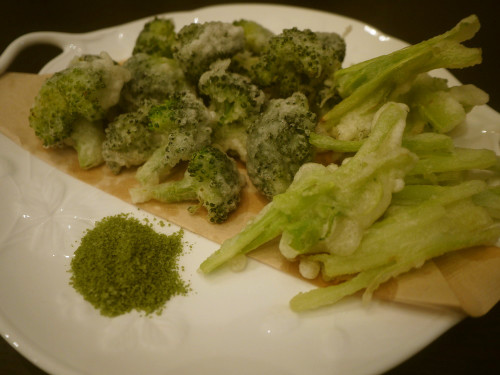 Broccoli Tempura with Matcha Salt