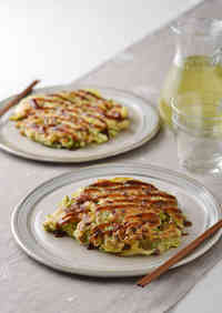 Tofu and Natto Chewy Okonomiyaki