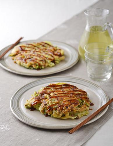 Tofu and Natto Chewy Okonomiyaki