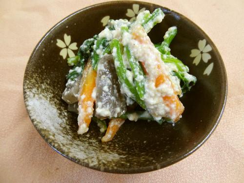 Smooth Konnyaku Shira-ae with Silken Tofu