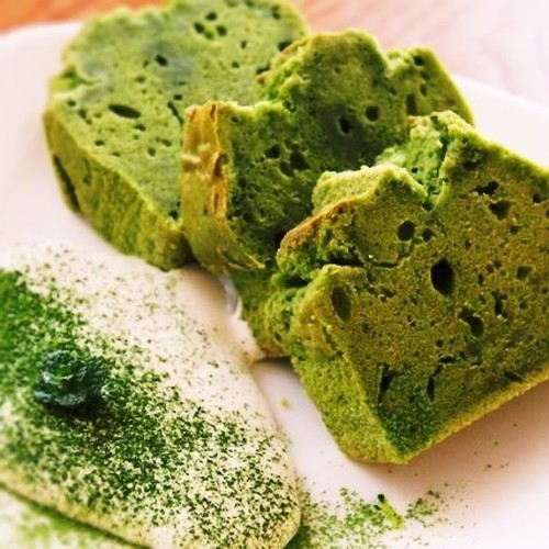 Healthy Rice Flour and Soy Milk Matcha Pound Cake