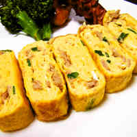 Tuna and Scallion Tamagoyaki for Bentos