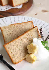 Fluffy Chiffon Cake with Lots of Bananas