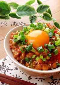 Addicting Korean-style Natto & Kimchi over Rice