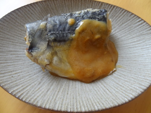 Mackerel Simmered in Sweet Miso