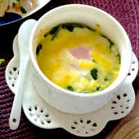 Easy and Delicious Baked Spinach and Egg