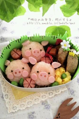 Easy & Cute! Charaben Piggy Bento
