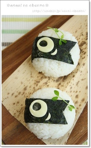 Easy Koinobori Rice Balls for Children's Day