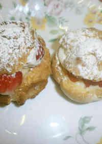 Strawberry & Banana Cream Puffs
