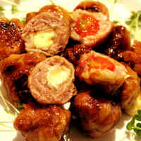 Tomato Cheese Meatballs using Thinly Sliced Pork Offcuts