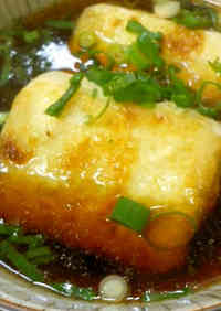 Easy Shallow-Fried Tofu with Mentsuyu