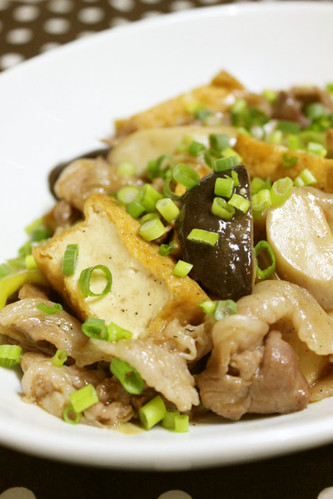 Pork and Atsu-age Stir-Fry in Oyster Sauce