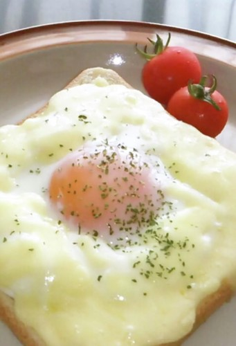 Croque Madame with Microwave White Sauce