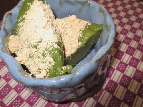 Cake Flour-Based Matcha Warabi Mochi