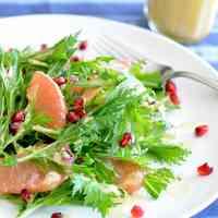 Mizuna or Arugula & Grapefruit Salad