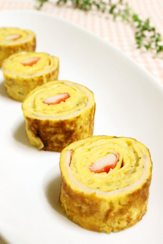 For Bentos: Crab Stick Tamagoyaki Flavored with Soup Stock and Mayonnaise