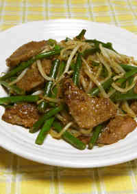 Beef Livers and Garlic Shoot Stir-fry