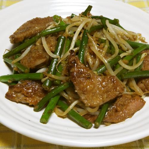 Beef Livers And Garlic Shoot Stir fry Washoku.Guide - 500x500 - jpeg