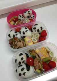Easy Panda Rice Balls for Lunchboxes