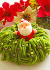 Wreath Shaped Matcha & Sweet Potato Mont Blanc
