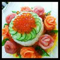 Flower-Themed Sushi Cake for Mother's Day and Special Occasions