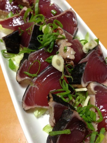 Seared Skipjack Tuna Wasabi and Ponzu