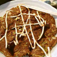 Okonomiyaki with Okara Powder