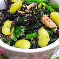 Hijiki Seaweed, Edamame, Tuna and Spinach with Ponzu Sauce
