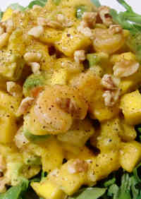 Caribbean Shrimp, Mango, and Avocado Salad