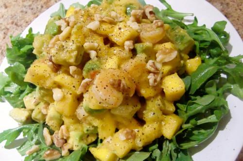 Caribbean Shrimp, Mango, and Avocado Salad
