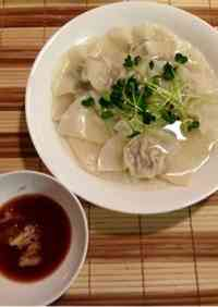 Dim Sum-Style Alpine Leek Wonton Dumplings