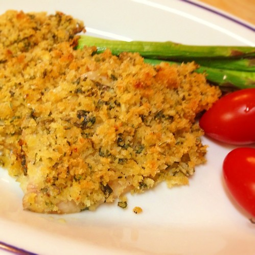 Horse Mackerel with Herbed Breadcrumbs