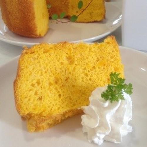 Fluffy Kabocha Squash Chiffon Cake