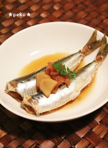 No Fishy Smell! Soft All the Way to the Bones! Sardines Simmered in Umeboshi and Ginger
