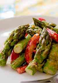 Asparagus with Almond Butter Sauce