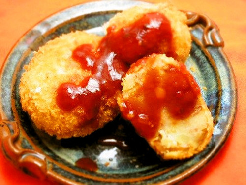 Nikujaga Croquettes with Frozen Beef Soboro