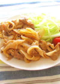 Stir-Fried Pork and Onion with Ginger and Ponzu Sauce