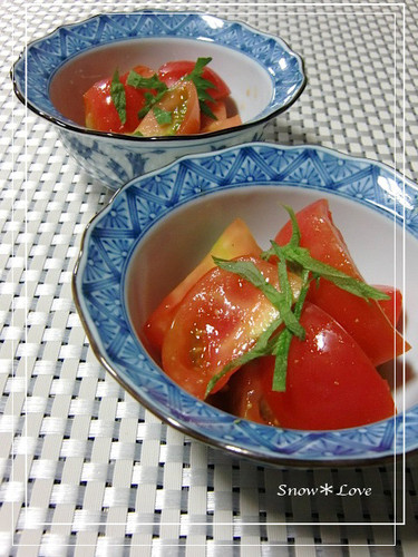 Tomato Salad with Japanese Mustard
