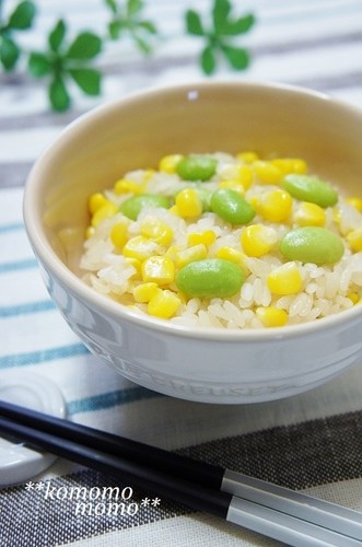 Just a Little Butter: Corn and Edamame Rice