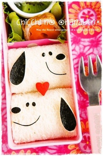 Snoopy Sandwiches for Bento