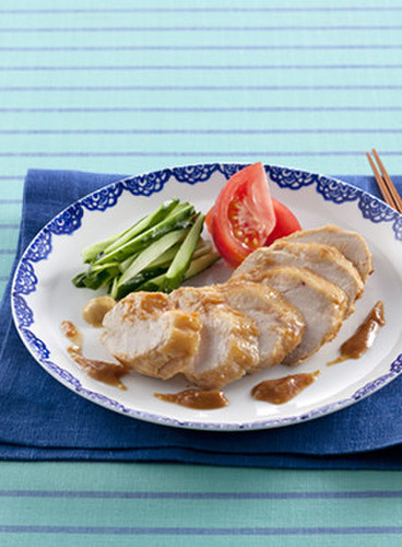 Vinegared Miso Chicken Breast with Honey