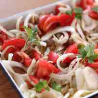 Marinated Shimeji Mushrooms and Tomato Summer Salad