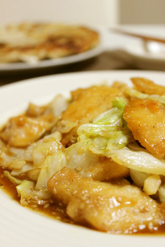 Tender Chicken Breast and Cabbage Stir-Fry in Delicious Sauce
