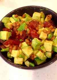 Tuna, Avocado & Natto Rice Bowl