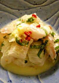 Flounder in Shisho and Lemon