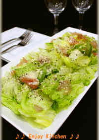 Easy Ham and Lettuce Italian Salad