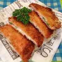 Ham Cutlets with Cheese