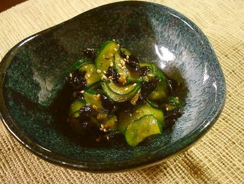 Cucumber and Korean Nori Seaweed Namul