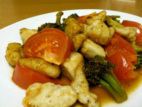 Chicken Tenders, Tomatoes, and Broccoli
